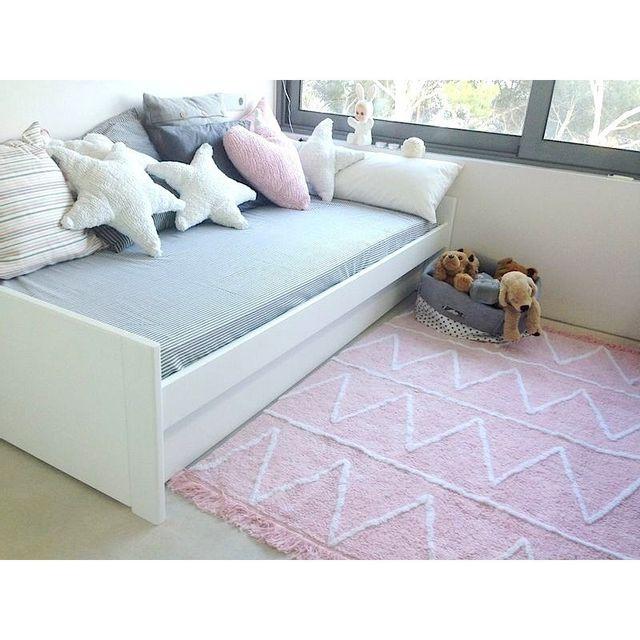 lorena canals tapis hippy rose avec franges lavable 120 160 pas cher achat vente tapis