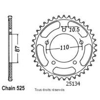 Db Parts Couronne Acier Suzuki Sv 650 S 1999 2015 44 Dents 31446824