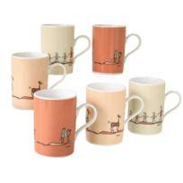 Creatable - 10813 Lot de 6 Mug Nature