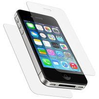 Cabling - Protection Ecran avant+arriere, Vitre en Verre Trempe pour Iphone 4 / 4S Film Ultra Resistant Inrayable