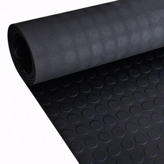 Vidaxl Tapis en caoutchouc antidérapant avec points 5 x 1 m   Noir
