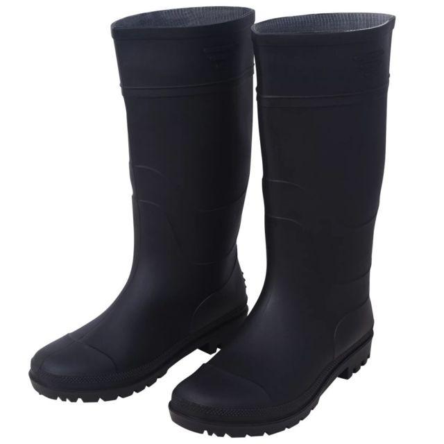 8ba411512d1e Vidaxl - Bottes en caoutchouc taille 39 noir - pas cher Achat   Vente  Entretien des chaussures - RueDuCommerce