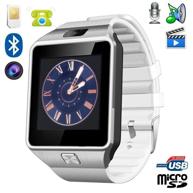 yonis montre smartwatch t l phone android ios bluetooth carte sim sport pas cher achat. Black Bedroom Furniture Sets. Home Design Ideas