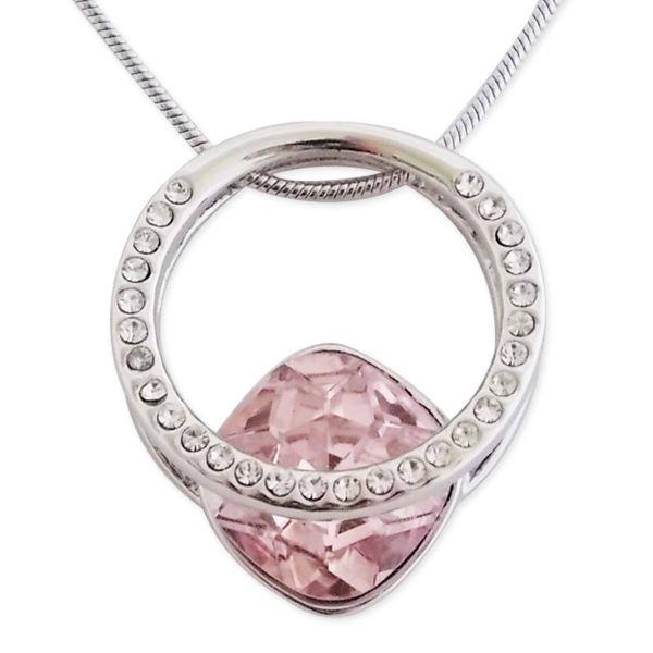 Totalcadeau - Collier pendentif bague avec strass et pierre rose bijou  fantaisie pas cher pendentif 0b41c5028d5