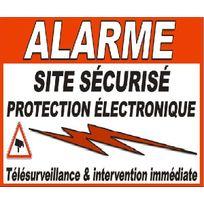 Cfp Securite - Stick-5 - Deux autocollants alarme pour portail