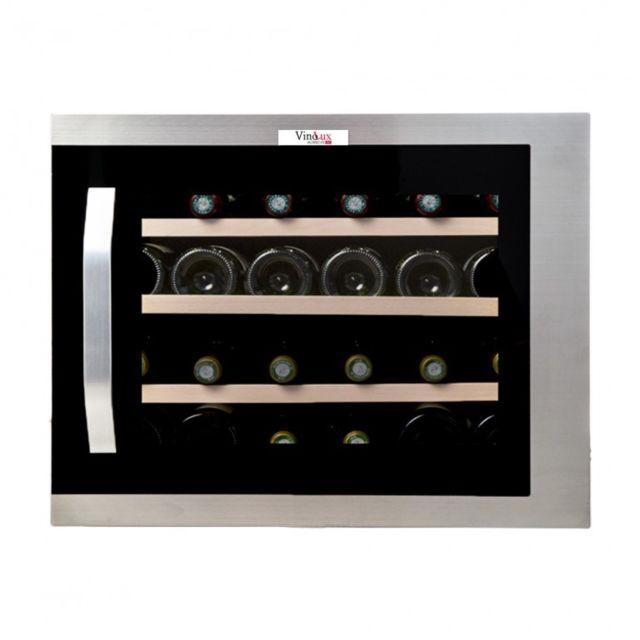 Vinolux Cave à vin encastrable meuble 45 cm, 24 bouteilles, inox - Vxem45X
