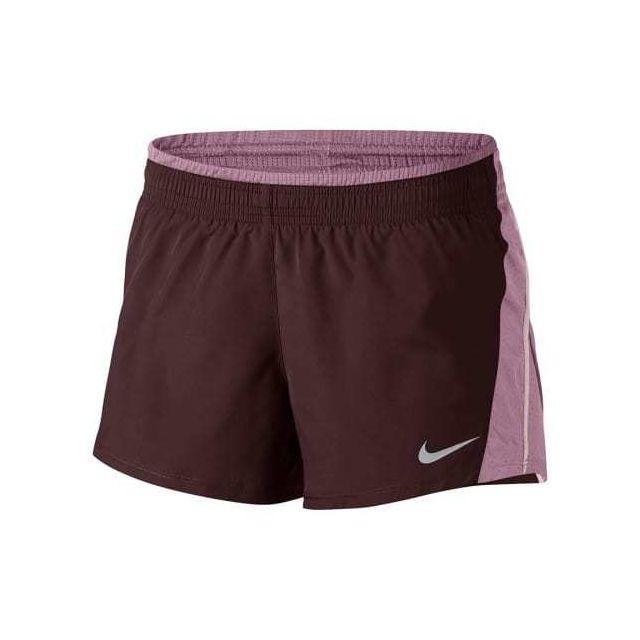 Nike - Short 10K Running rose bourgogne femme - pas cher Achat   Vente  Collants - RueDuCommerce 4d1c89d30ac