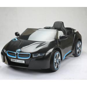 bmw voiture lectrique enfant luxe sport i8 coup t l commande noir pas cher achat vente. Black Bedroom Furniture Sets. Home Design Ideas