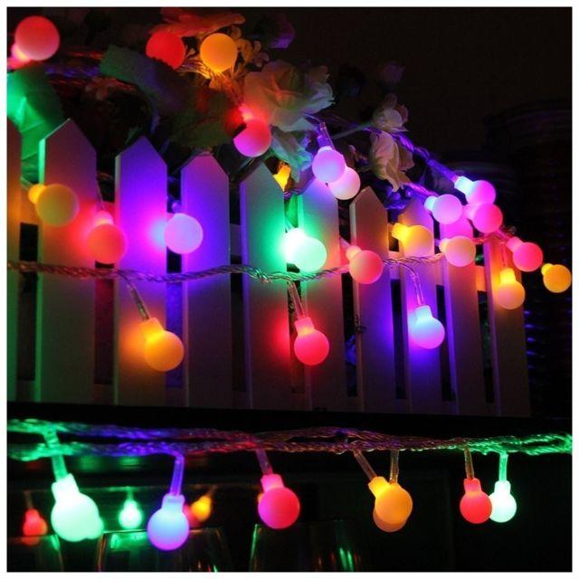 alpexe guirlande lumineuses boules 10 m tres 100 leds. Black Bedroom Furniture Sets. Home Design Ideas