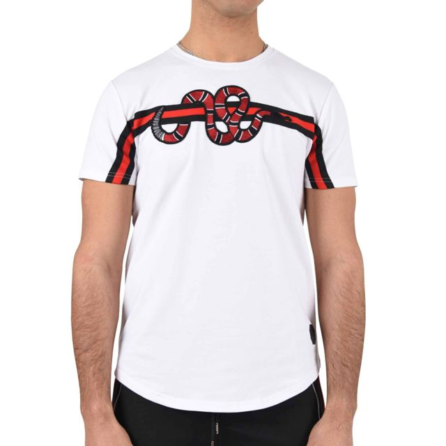 pas Project XL Snake street blanc cher Tee X bandes patch shirt 1r8q1zFw