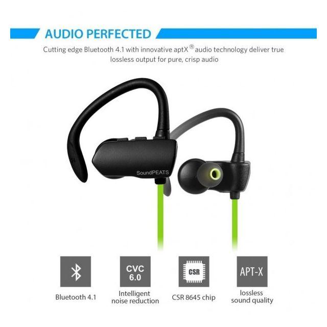 Alpexe Casque Bluetooth 4.1 stéréo oreillette sans fil Sport   Course à  pied   Exercice, écouteur intra auriculaire de rédution pas cher - Achat    Vente ... 2892a754d473
