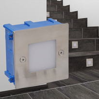 Vidaxl - 2 Luminaires Led encastrés pour escalier 85 x 48 mm
