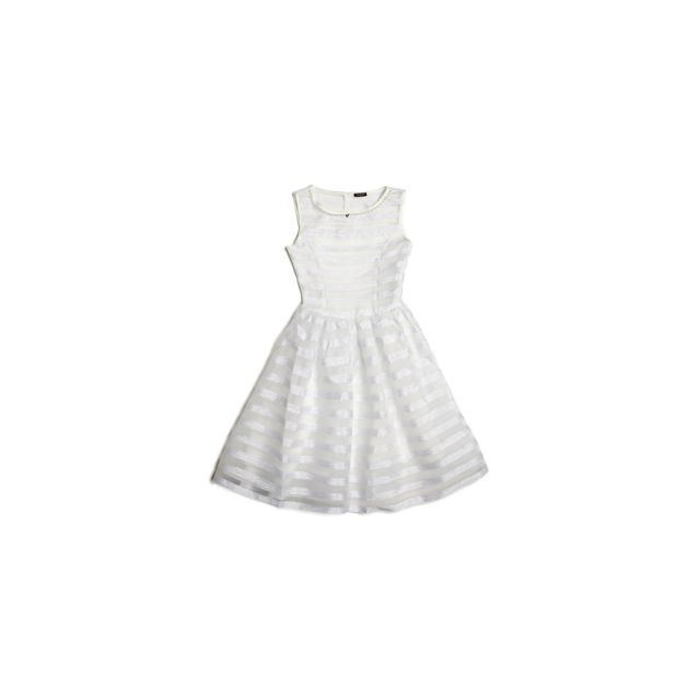 a6b0563010cfe Guess - Robe Fille Sans Manches Blanc - Taille - 10 ans - pas cher ...