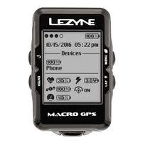 Lezyne - Macro - Compteur sans fil - avec appareil de mesure de la fréquence cardiaque et capteur de cadence noir