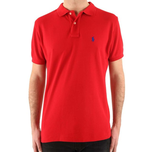 Lauren Xl Fit Ralph Polo Pas Custom Couleur RougeTaille nOyv80wmNP