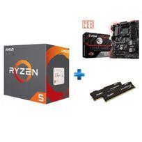 AMD - Processeur Ryzen 5 1600, + Wraith Spire 65W cooler + Carte mère B350 TOMAHAWK - Ryzen - Socket AM4 + HyperX Fury 16 Go 2 x 8 Go DDR4 2133 MHz Cas 14