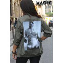Magic custom - Veste militaire tupac fuck