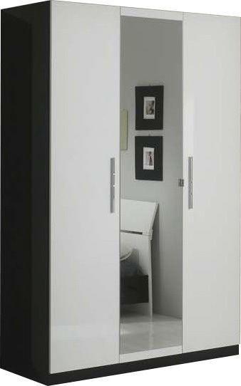 Comforium Armoire 3 Portes Avec Miroir Central Coloris Blanc Et