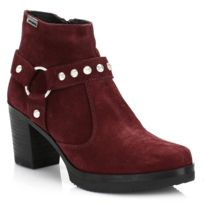 4ever young - Womens Wine Red Beyonce Suede Boots-UK 5