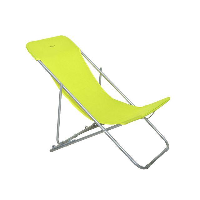 hespride chaise longue chilienne pliante setubal pistache pas cher achat vente transats chaises longues rueducommerce - Chilienne Pas Cher
