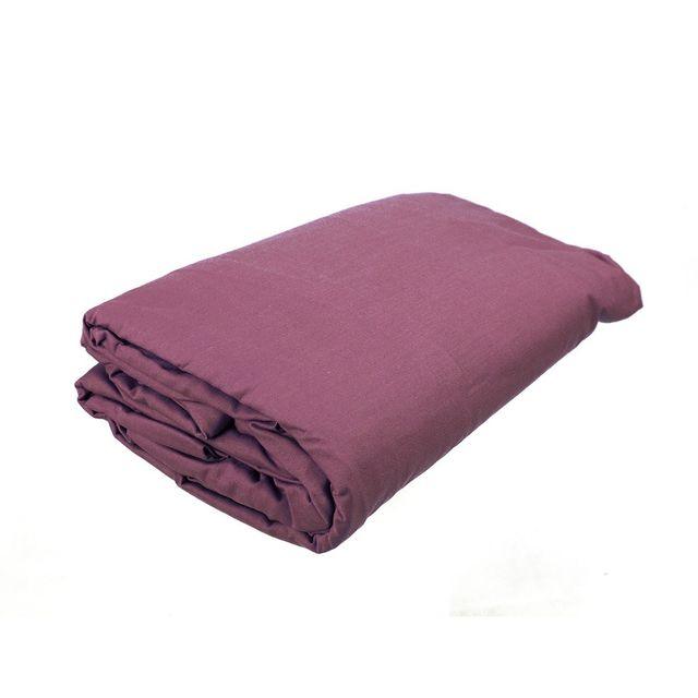 les douces nuits de ma drap housse 160x200 percale 78 fils bonnet de 25cm violet pas cher. Black Bedroom Furniture Sets. Home Design Ideas