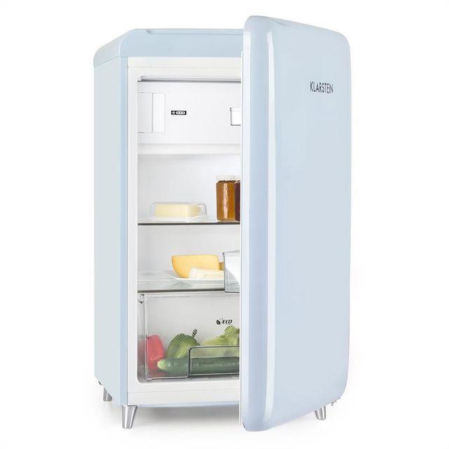 KLARSTEIN Pop Art Réfrigérateur rétro 108l congélateur 13l classe A++ -bleu