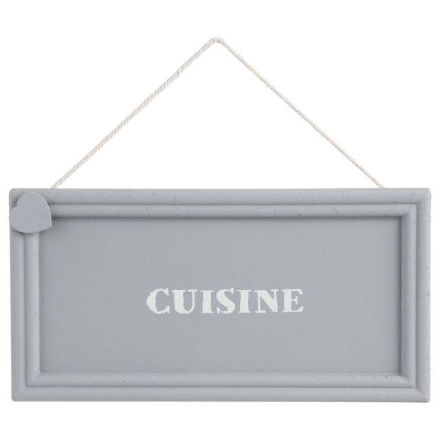 Atmosphera Plaque de porte Cuisine Cold Dream - 20 x 10 - Gris