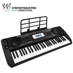 ws synthetiseur electrique clavier piano 54 touches pro pas cher achat vente synth tiseurs. Black Bedroom Furniture Sets. Home Design Ideas