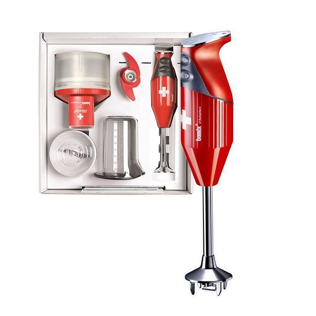BAMIX mixeur plongeant multifonctions 200w rouge - mx105077
