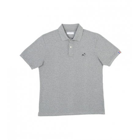 Comptoir Tricolore Polo Le Louvre Rivoli - Polo homme Gris - Made in France