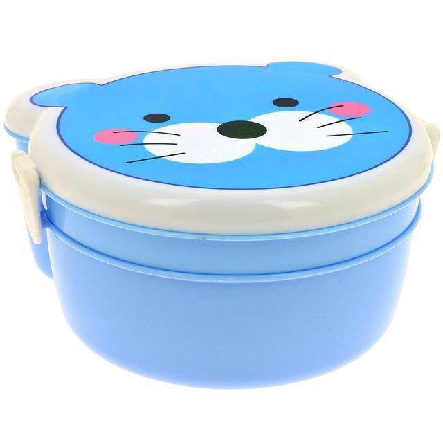 Promobo Set Panier Repas Enfant Boite Gouter Bébé Lunch Box Chaton