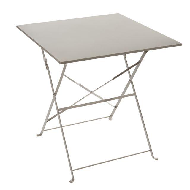 CARREFOUR - Table pliante - Métal - Taupe - pas cher Achat / Vente ...