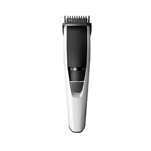 PHILIPS Tondeuse à barbe - 10 hauteurs de coupe - Noir/Argent