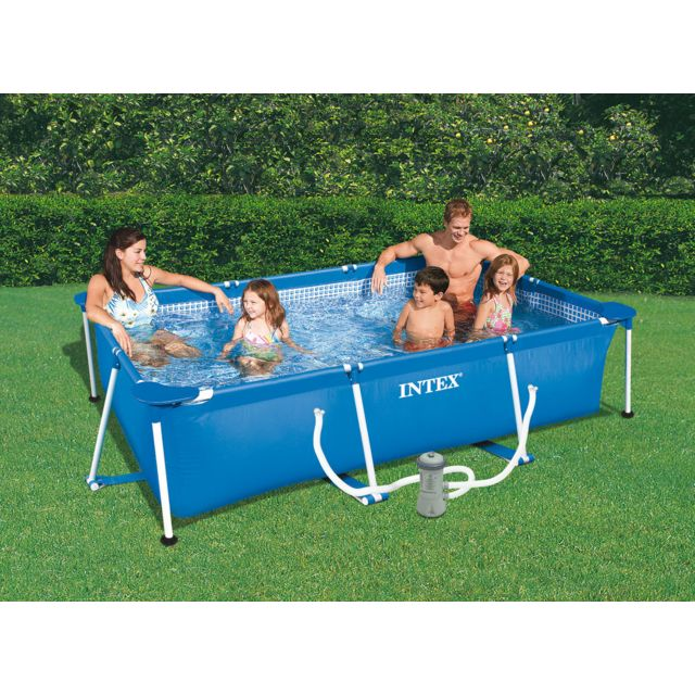 Intex piscine tubulaire rectangulaire 3 00 x 2 00 x 0 - Intex piscine tubulaire rectangulaire ...