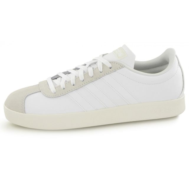 Pas Daily 2 Homme Blanc Adidas Basses Chaussure Cher Baskets