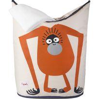 3 SPROUTS - Panier à linge pour enfants Mes animaux préférés Oran-outan