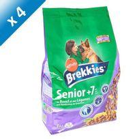 Brekkies - Excel au boeuf et aux légumes - Pour chien senior de 7ans et plus - 3 kg x4