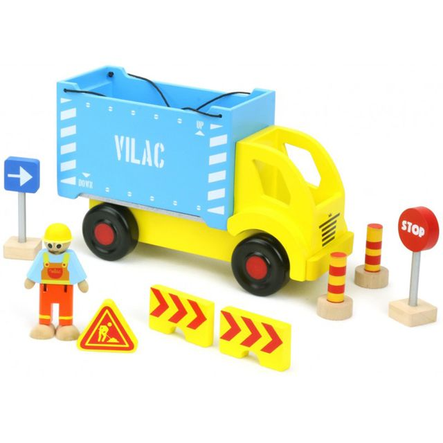 Vilac Camion porte-conteneur et ses accessoires