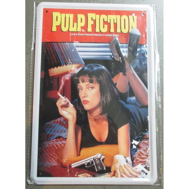 Universel Plaque pin up pulp fiction affiche tole film culte deco ciné