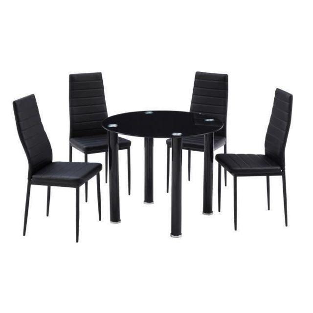 G n rique table a manger avec chaises berenice ensemble Table a manger carrefour